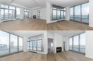Living room open plan collage floor image wood floor full height windows Yorkville Avenue Canada
