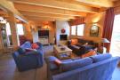 Living room fireplace Chalet Idée Fixe Champoussin Champéry