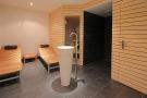 Sauna treatment room stone tiled floor Gai Torrent Penthouse Verbier