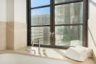 Bathroom bath tub stone Park Avenue South New York