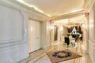 Dining room hallway long marble chandelier cornicing Etoile Marceau Paris
