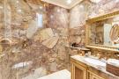 Bathroom shower gold marble Etoile Marceau Paris