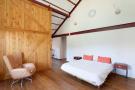 Bedroom guest wood floor Villa Paula Zona Alta Barcelona