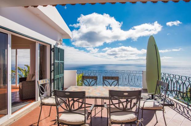 Terrace ocean view sea patio sun Villa Aquarela Madeira Portugal