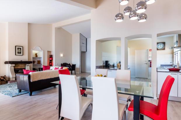 Living room dining open plan Villa Aquarela Madeira Portugal
