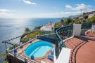 Terrace ocean view sea patio sun swimming pool Villa Aquarela Madeira Portugal
