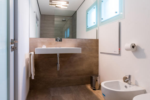 Bathroom stone sink Villa Aquarela Madeira Portugal