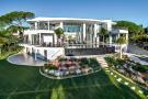 Aerial main house garden swimming pool Villa Sara Quinta do Lago Algarve