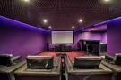 Cinema room purple Villa Sara Quinta do Lago Algarve