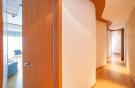 Curved hallway wood floor Villa Olivia Lloret de Mar Girona