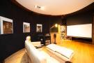 Cinema room wood floor home Villa Olivia Lloret de Mar Girona