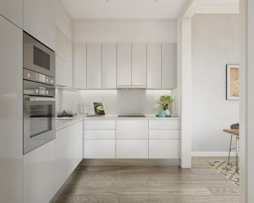 Kitchen wood floor Balmes Barcelona