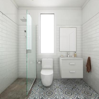 Bathroom sink shower walk in stone Balmes Barcelona