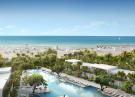 Swimming pool terrace beach ocean view Fasano Shore Club South Beach Miami Florida