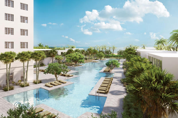Lagoon pool sun terrace Fasano Shore Club South Beach Miami Florida