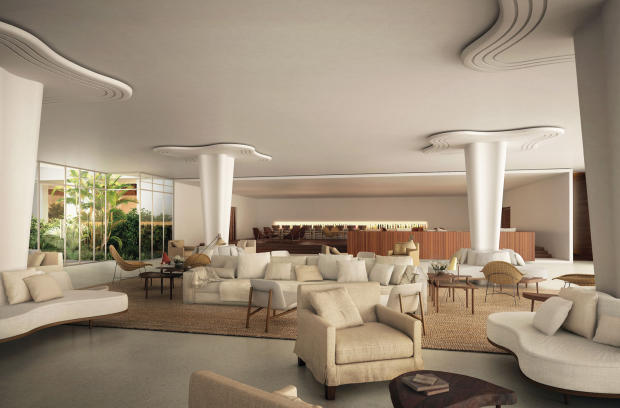 Hotel lobby Fasano Shore Club South Beach Miami Florida