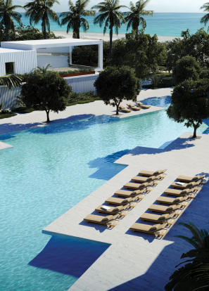 Swimming pool sun terrace Fasano Shore Club South Beach Miami Florida