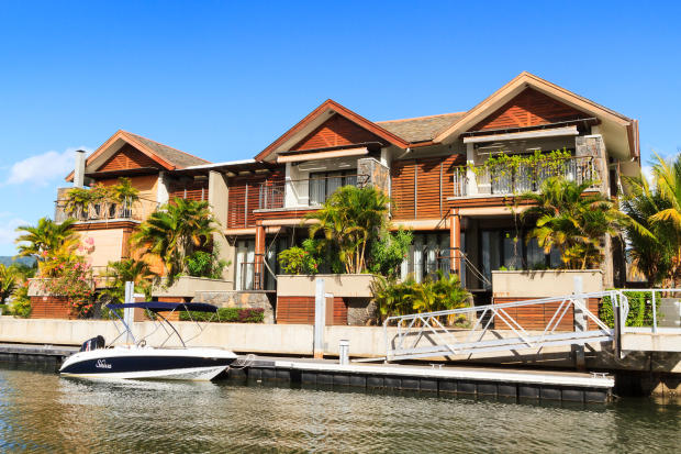 Duplex homes with mooring at La Balise Marina in Mauritius