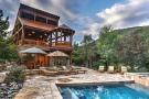 Swimming pool sun terrace rear facade Cascabel Ranch Colorado