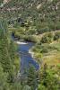 Aerial facade river Cascabel Ranch Colorado