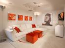 Living room white modern foyer Marina Palms Miami Florida
