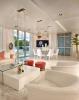 Living room dining stone floor Marina Palms Miami Florida