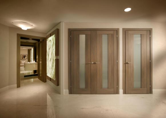 Hallway stone marble floor Marina Palms Miami Florida