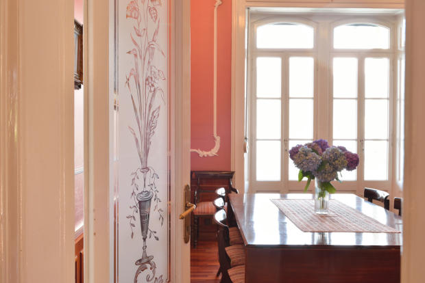 Office tiled floor period features Villa on Lake Como The Lakes Italy