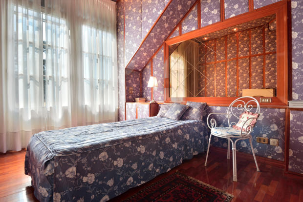 Bedroom guest wood floor Villa on Lake Como The Lakes Italy