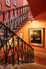 Stairs stairway iron railings Villa La Quercia Lucca Tuscany