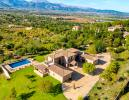 Aerial view swimming pool Finca Son Romani Mallorca