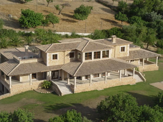 Facade Finca Son Romani Mallorca