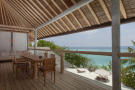 Dining area ocean sea view Villa Sunrise at Soneva Fushi Maldives