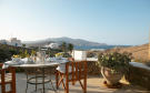 Outdoor dining area ocean sea view Ftelia Mykonos