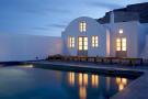 Swimming pool rear facade Villa Fabrica Santorini
