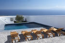 Swimming pool sun terrace Villa Fabrica Santorini