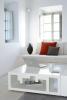 Living room white stone Villa Fabrica Santorini