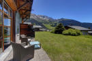 Terrace with sweeping mountain views at Chalet Lievre in Verbier