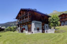 External view of Chalet Lievre in Verbier during the summer