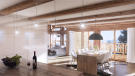 CGI of kitchen and dining area at Chalet Cocoon in Verbier