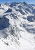 Mountains covered in snow around Verbier