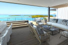 CGI of seating area and terrace with sea views at St Antoine Mauritius