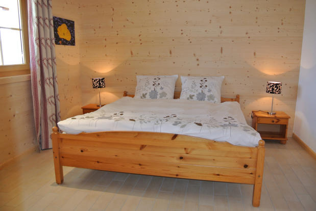 Guest double bedroom at Chalet Alina