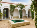 Moroccan style inner courtyard with water feature at Villa Jardin