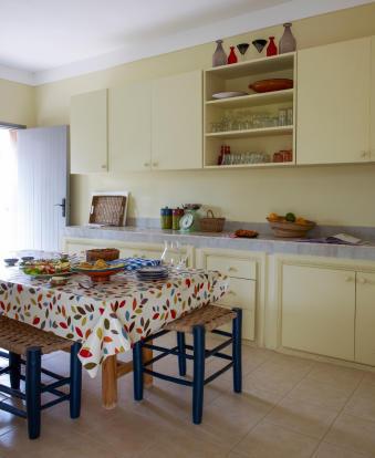Kitchen area at Villa Jardin