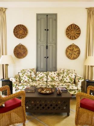 Sofa area in living room at Villa Jardin