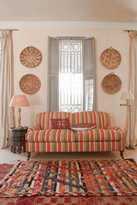 Moroccan style sitting room at Villa Jardin