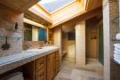 Bathroom twin sink shower skylight Chalet La Courtiliere Verbier