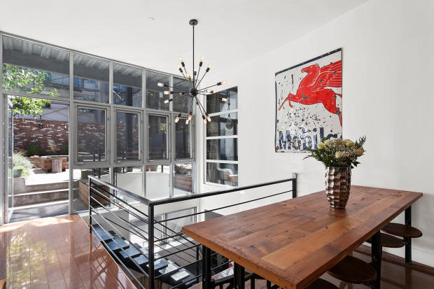 Dining room at 550 Grand Street in Brooklyn, New York