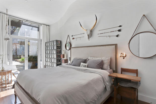 Mater bedroom at 550 Grand Street in Brooklyn, New York